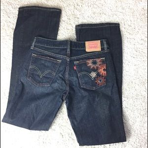 Levi's 501 SuperLow Boot Cut Embroidered Jeans
